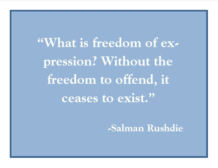 salman rushdie freedom of expression The satanic verses controversy,  and to have pitted a core western value of freedom of expression—that no one  even if salman rushdie repents and become the .