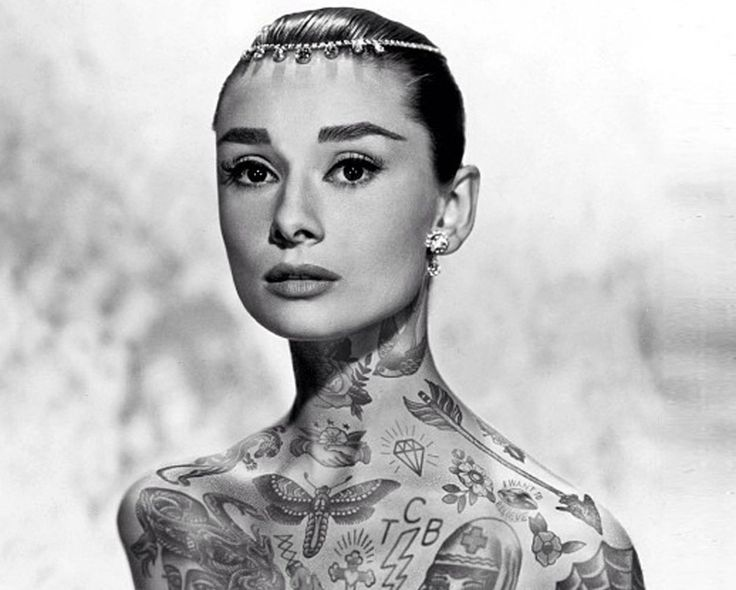 Tattoo icons what would audrey hepburn princess di and barack obama
