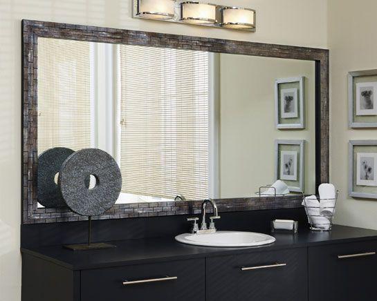 makeovers frame a bathroom mirror framing existing