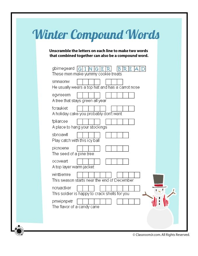 """Search Results for """"Winter Word Scramble Worksheet"""" – Calendar ..."""