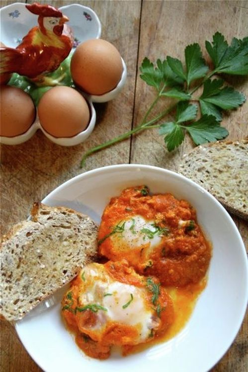 eggs in tomato sauce | recipes | Pinterest