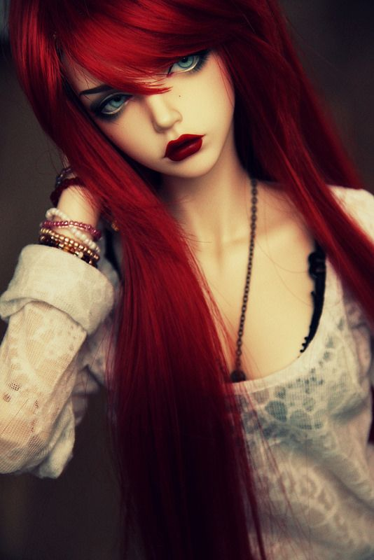 Sidney Red Hair Dolls Ball Jointed Resin Dolls