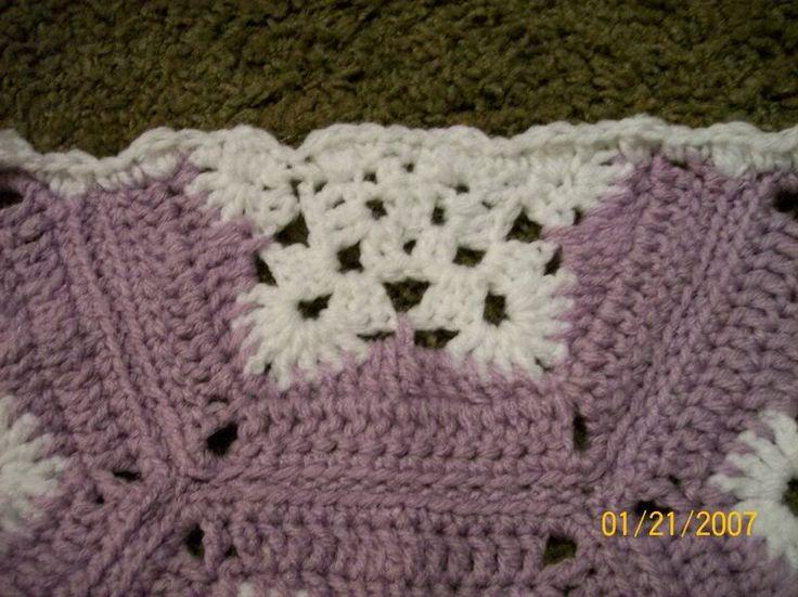 Crochet Pattern Snowflake Afghan : half hex snowflake for afghan crochet Pinterest