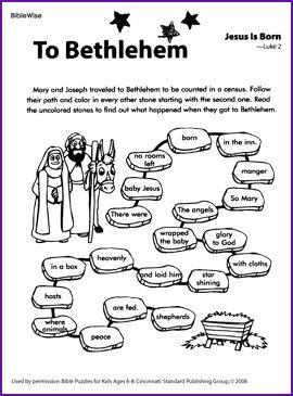 The Birth Of Jesus Activities School Stuff Pinterest