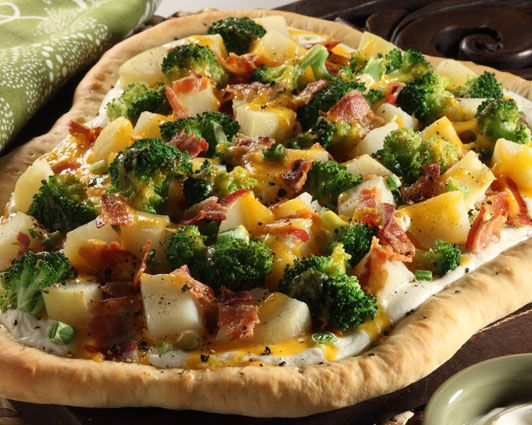 ... for proscuitto and maybe add thinly sliced chicken? Baked Potato Pizza
