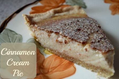Cinnamon Cream Pie. Looks like custard pie minus the nutmeg but with ...