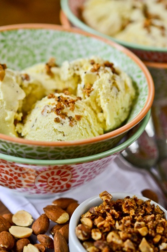 Salted Almond Ice Cream | Things i want to eat | Pinterest