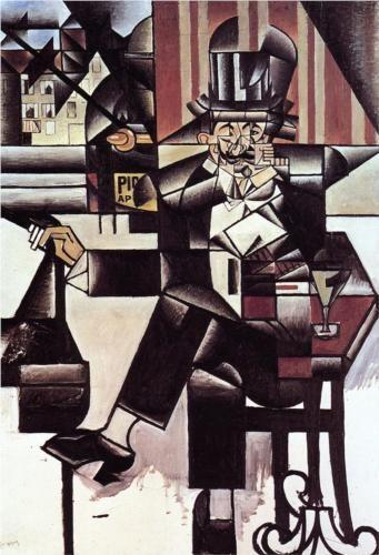 Man in the Cafe - Juan Gris