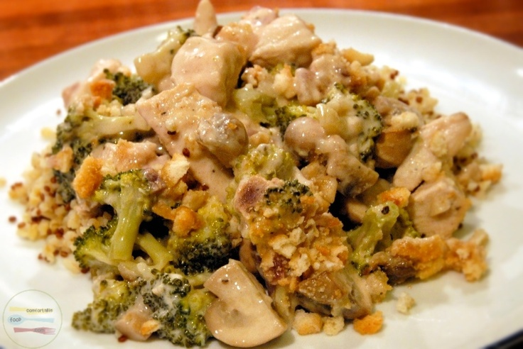 chicken broccoli casserole-would make with fat free cream cheese and ...