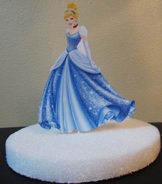 Sparkle Princess Cinderella Birthday Party Cake Topper or Centerpiece ...