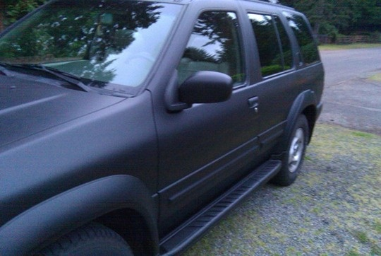 plasti dip car her friend nicole decided her suv needed a paint job. Black Bedroom Furniture Sets. Home Design Ideas