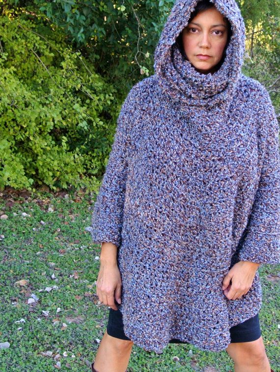 Crochet Pattern Cowl Hooded Capelet Poncho - Easy for ...