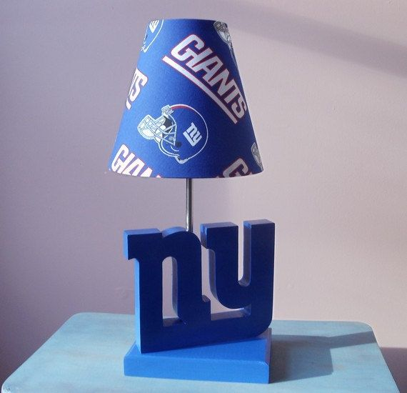 New York Giants Desk Or Table Lamp Sports Lamp Sports