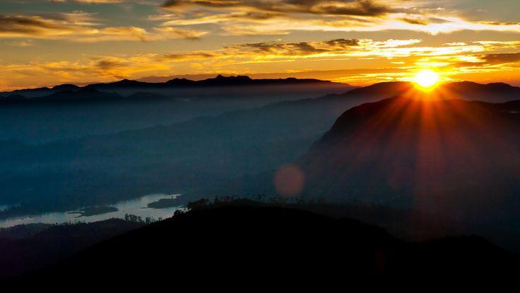 Sunrise over Sri Lanka