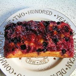 Plum Blueberry Upside-Down Cake | food | Pinterest