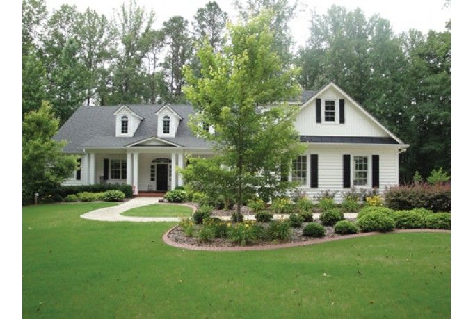 Beautiful one story house plans dream house pinterest for One story colonial homes