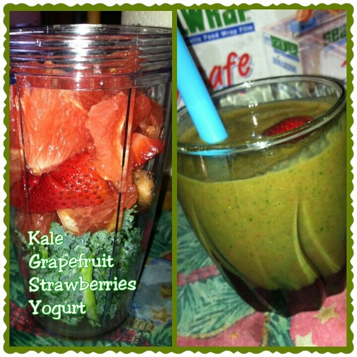 Grapefruit Kale strawberry smoothie | Smoothies and Juices | Pinterest