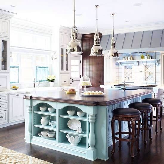Tiffany blue kitchen island kitchen pinterest for Tiffany blue kitchen ideas
