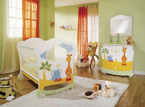 Habitación con animales y colores