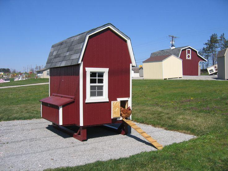 Amish gambrel chicken coop kit 4 39 x 6 39 for 4x6 chicken coop
