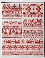 Free Easy Cross, Pattern Maker, PCStitch Charts + Free Historic Old Pattern Books: 1877 Орнамент русской народной вышивки как историко-этнографический источник (Collected Velikorusskih & Malorossiyskih patterns for embroidery)