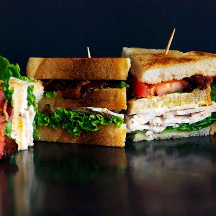Classic Club Sandwich Recipe   Food   Pinterest