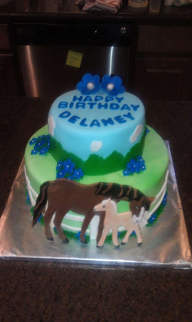 Birthday Cake Ideas With Horses : Horse themed cake Birthday party ideas Pinterest