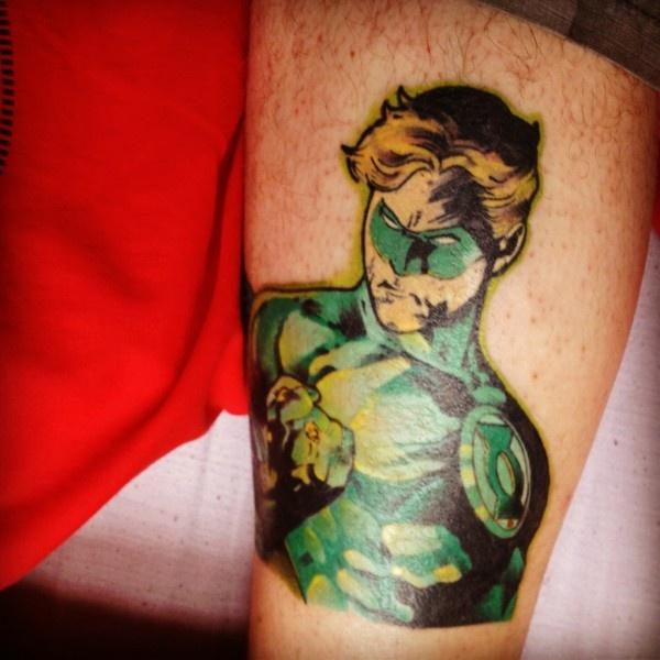 Green Lantern Tattoo #tattoos | Tattoos | Pinterest