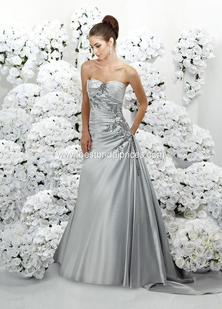 Platinum silver wedding dress my wedding stuff pinterest for Silver wedding dresses for bridesmaids
