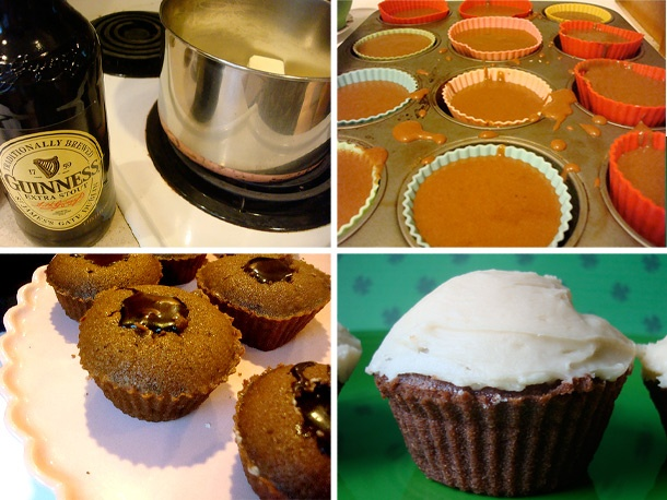 Cakespy: Chocolate Stout Cupcakes with Irish Whiskey Filling | Recipe