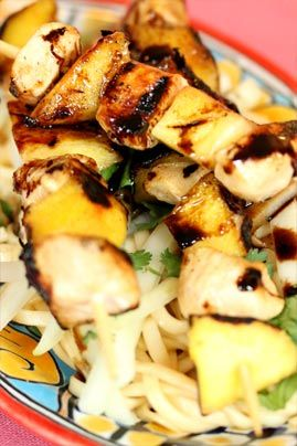 Balsamic chicken mango skewers | Dinner | Pinterest