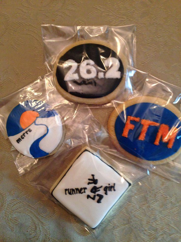 MCRRC Marathon cookies | Jill's Cookie Cart | Pinterest