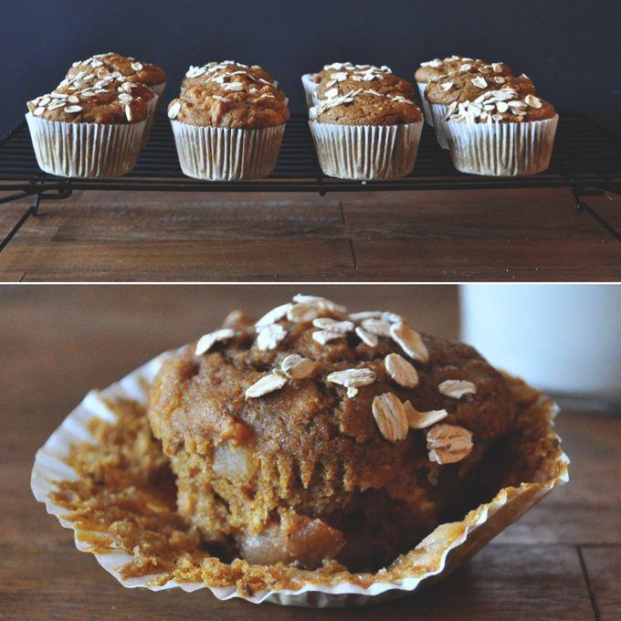 Apples, pumpkin, & oats, oh my! Vegan Pumpkin Apple Muffins! by ...