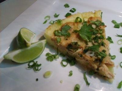 Thai Chicken Pizza with Basmati Rice Crust
