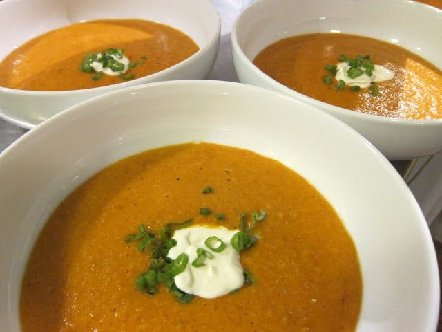 Roasted Corn and Tomato Soup | Lunch | Pinterest
