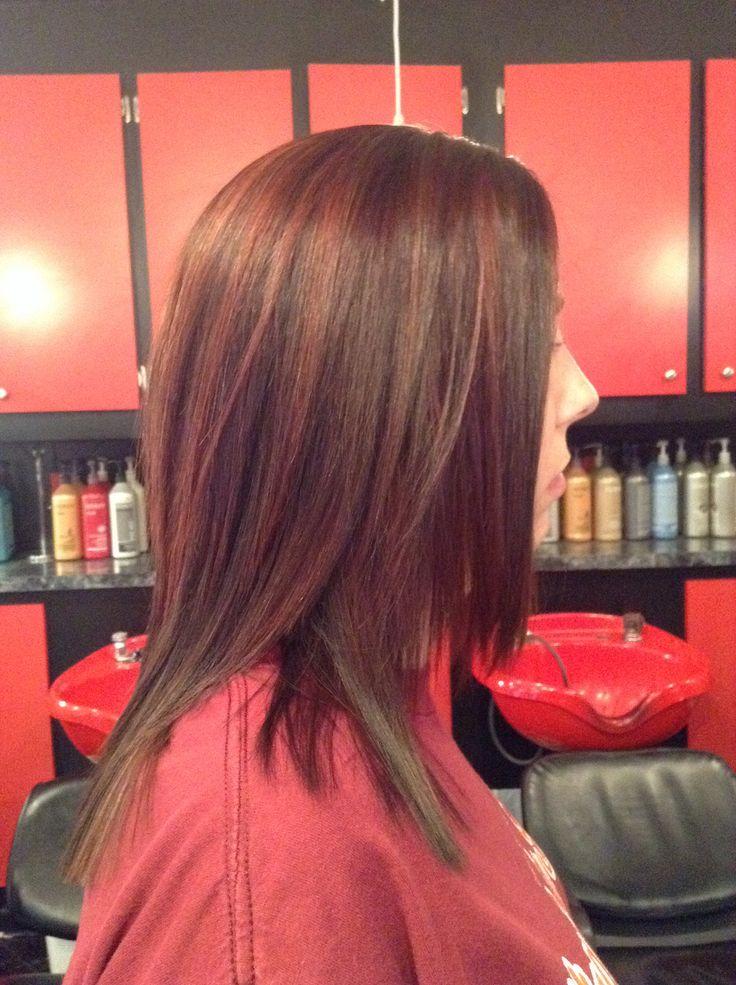 Color red auburn mocha redken color | Kristen Kirby - L