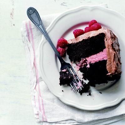 Deep Dark Chocolate Cake with Raspberry Filling & Chocolate ...