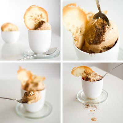 Spiced ice cream with walnut tuiles | Deserts | Pinterest