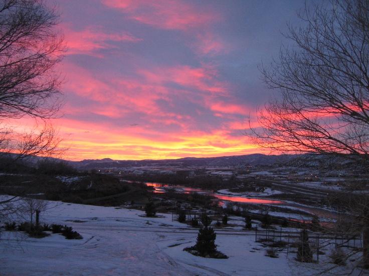 "Sunrise over the colorado river . | ""Beautiful Colorado ..."