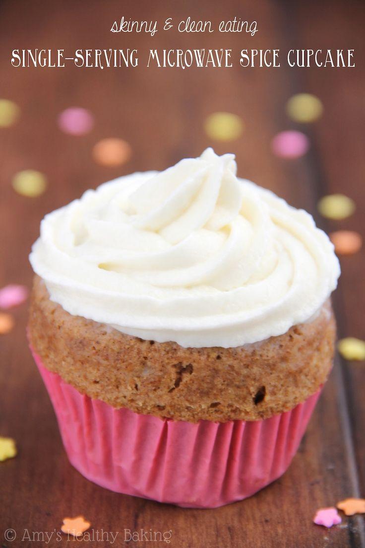 Skinny Single-Serving Microwave Spice Cupcake   Recipe