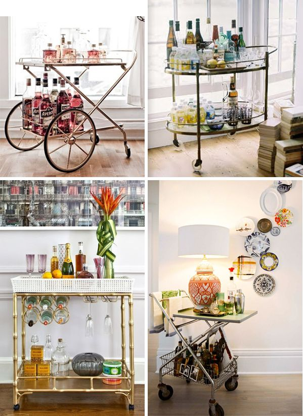 lots of cocktail bar trolley ideas