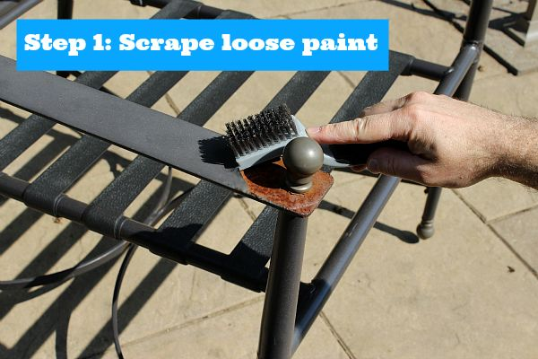 Painting Metal Patio Furniture Stuff For The Home Pinterest