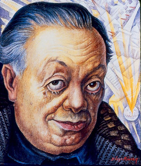 Diego Rivera  Self-PortraitDiego Rivera Self Portrait Year