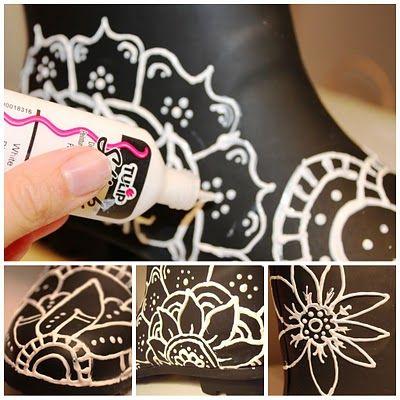 Резиновые сапоги как украсить резиновые сапоги своими руками 49