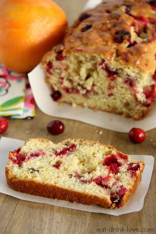 Cranberry & Orange Bread Recipe | Christmas | Pinterest