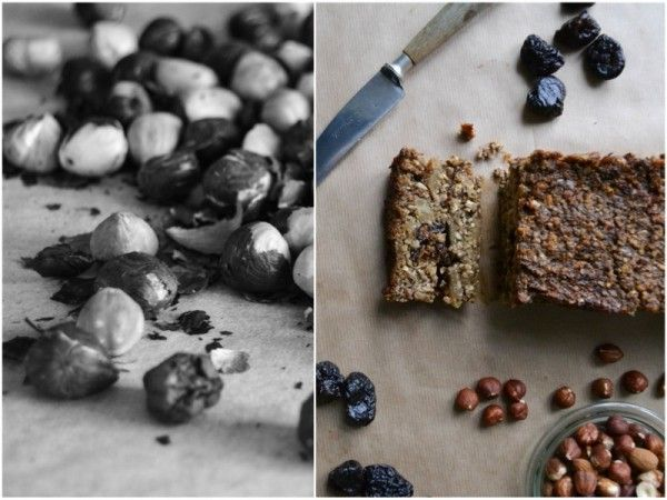 Vegan mushroom loaf w. hazelnuts, prunes & apples