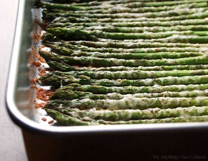 oven roasted parmesan asparagus | FOOD! : ) | Pinterest