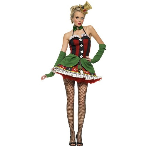 Lady luck casino girl costume