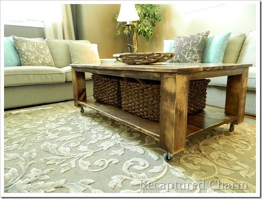 Do It Yourself Rustic Coffee Table
