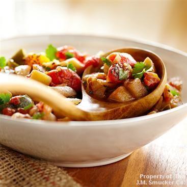 Eggplant, Poblano and Tomato Stew | Recipe